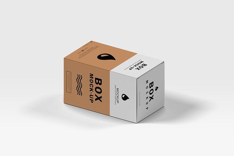 等距概念纸盒外包装设计样机模板designshidai_yj354
