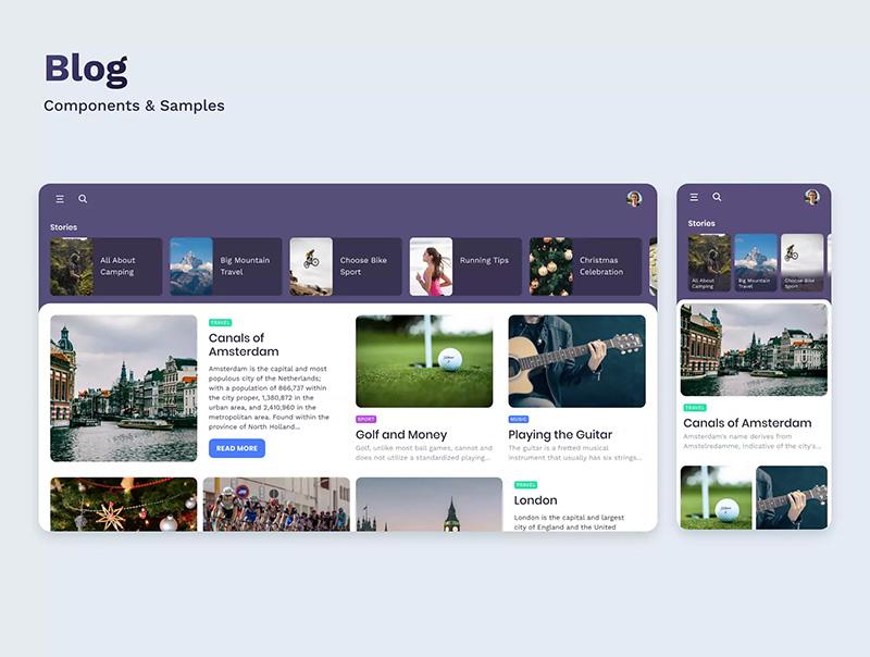 适用于Figma的多用途App&Web UI工具包designshidai_ui42