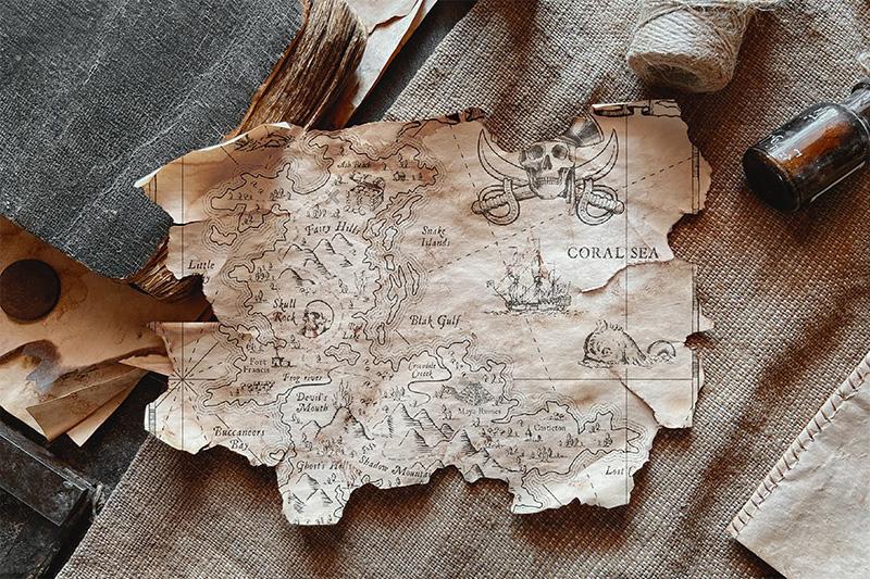 残旧纸张场景样机模板designshidai_yj212