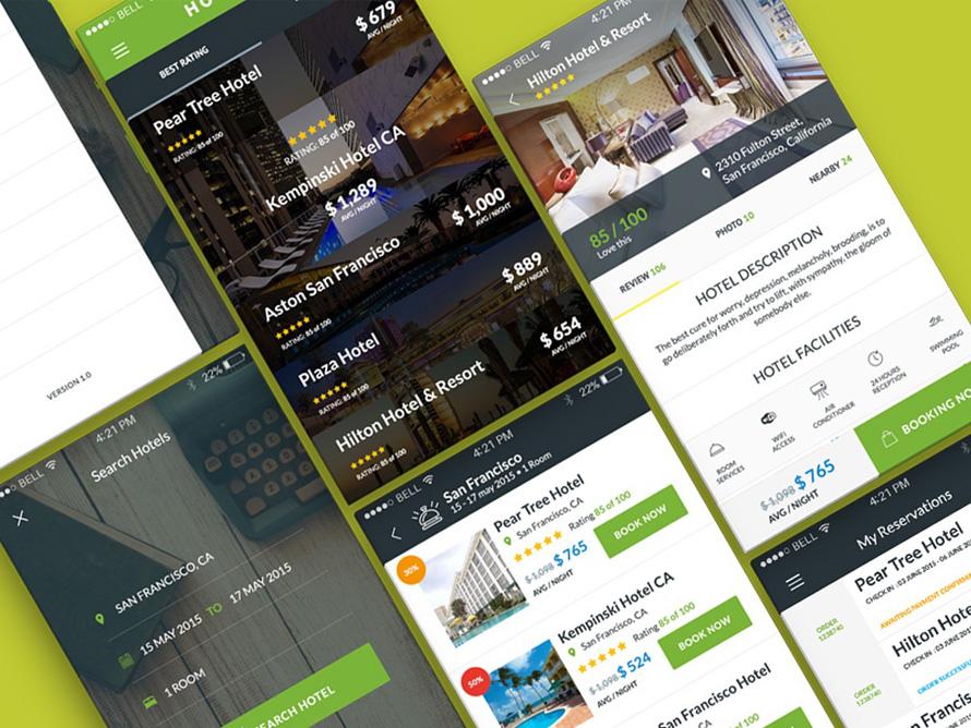 酒店预订手机ui界面设计designshidai_ui105