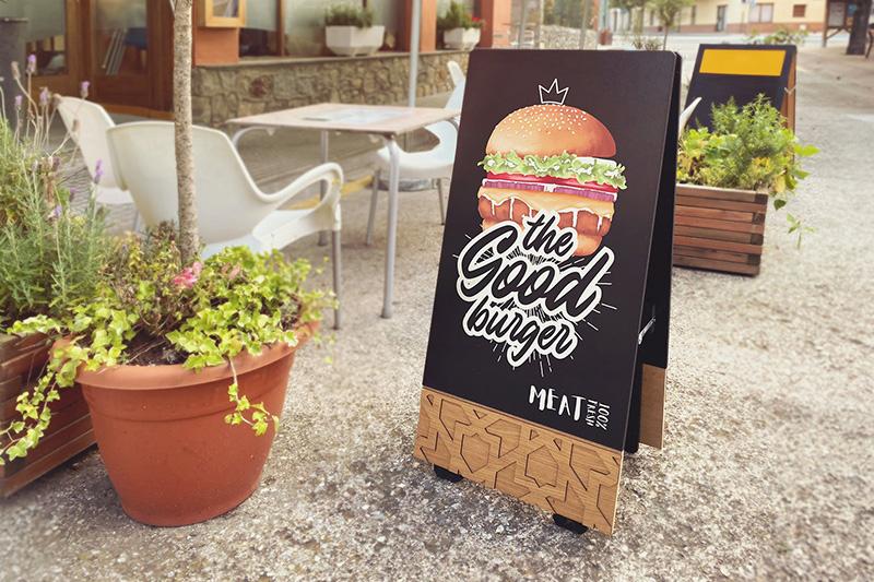 餐厅店铺黑板画广告宣传设计样机模板designshidai_yj272