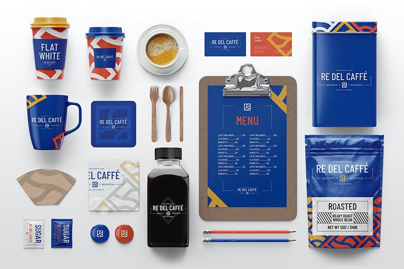 咖啡品牌效果图预览纸杯组合样机模板包designshidai_yj306