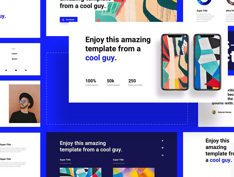 现代时尚多用途的网站设计Web UI套件[fig]designshidai_ui24