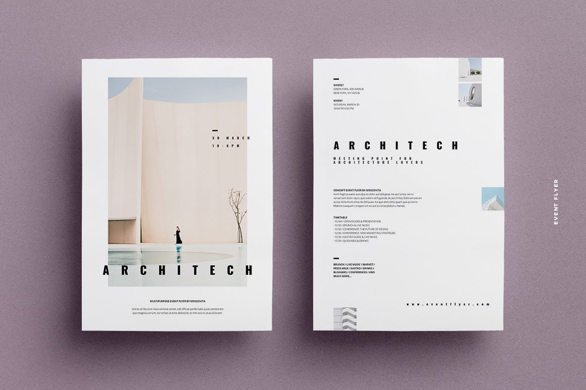 高端时尚简约清新多用途A4尺寸海报设计模板集合designshidai_haibao32