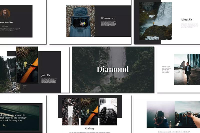 自然风景预览旅行社业务推广PPT模板designshidai_ppt069
