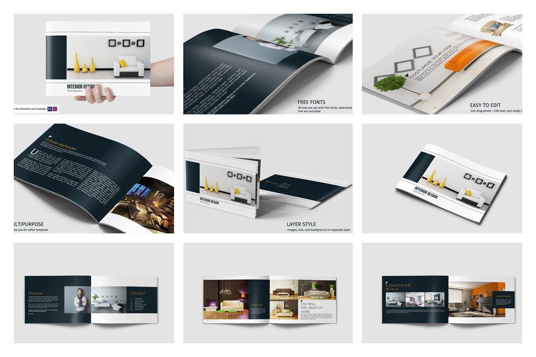 室内设计/家具产品杂志宣传册模板套装designshidai_zazhi035