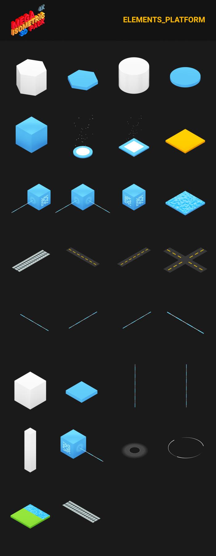 300+等距3D场景元素视频AE巨无霸素材包designshidai_video0047