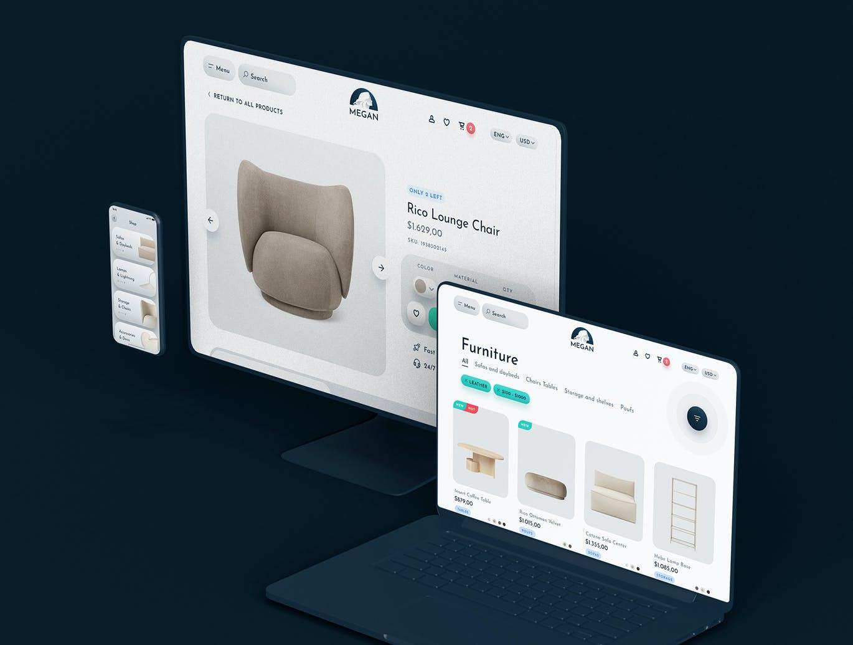 时尚高端专业的高品质简约电子商务UI kits-SKETCH designshidai_ui121