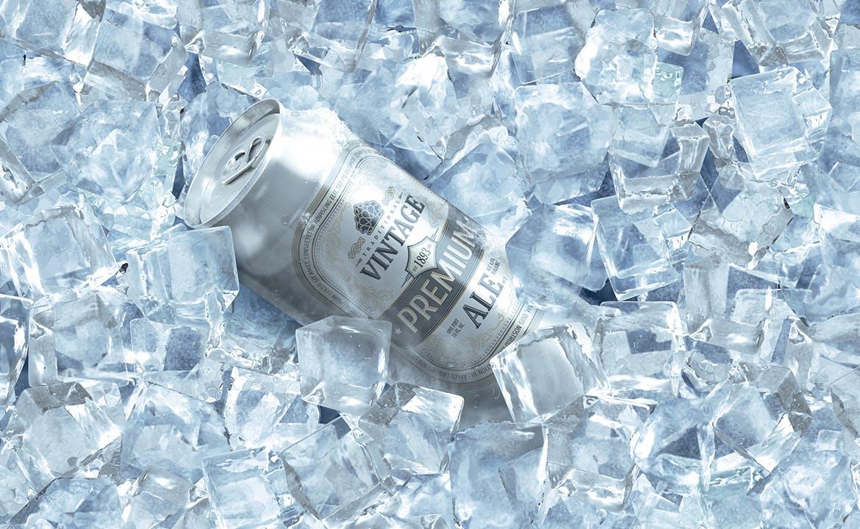 冰块啤酒罐头易拉罐饮料产品展示样机mockups模型designshidai_yj394