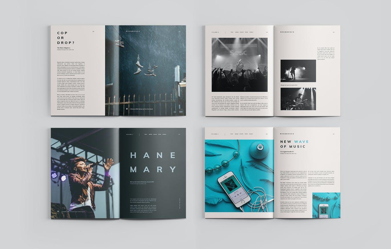 时尚简约高端多用途杂志宣传册画册房地产楼书设计模板designshidai_zazhi020