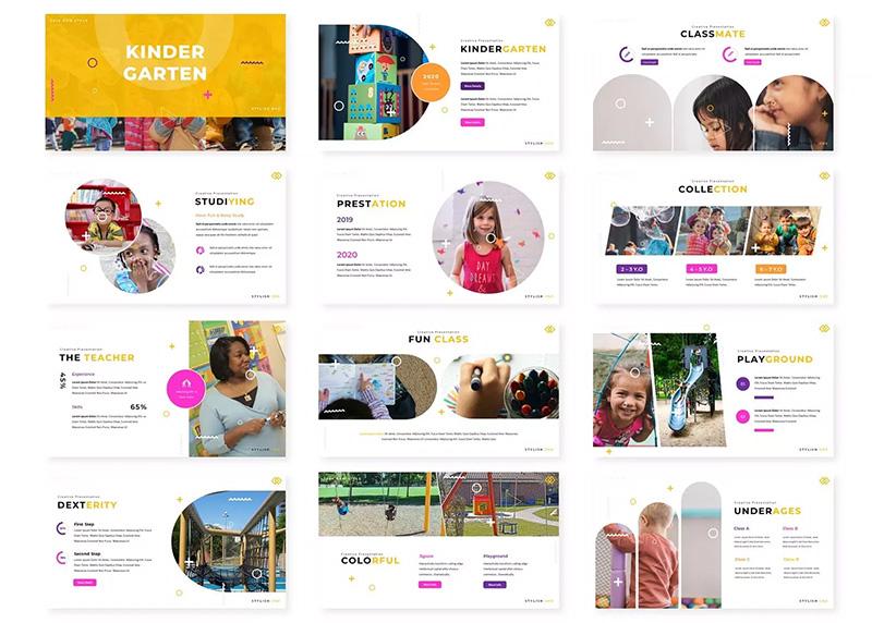 幼儿教育主题演讲PPT幻灯片模板 Kinder – Powerpoint Template designshidai_ppt020