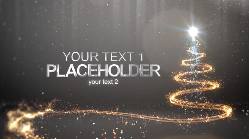 金色粒子圣诞新年Logo展示视频ae特效模板designshidai_video0027