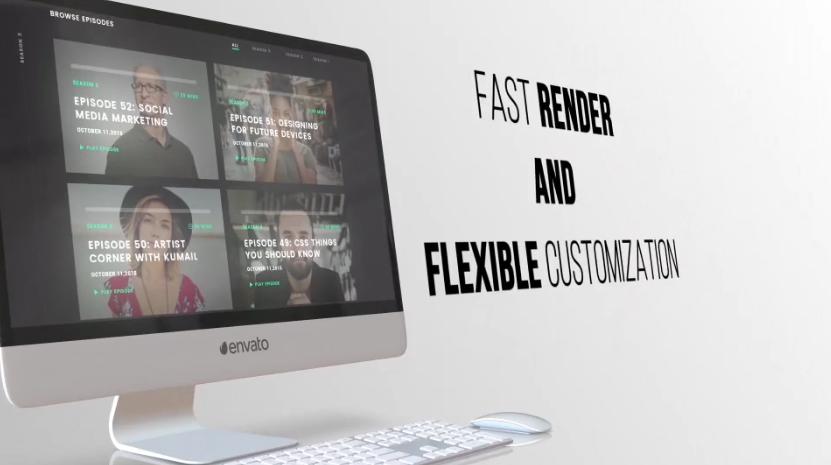 iMac电脑屏幕演示视频AE模板designshidai_video0078