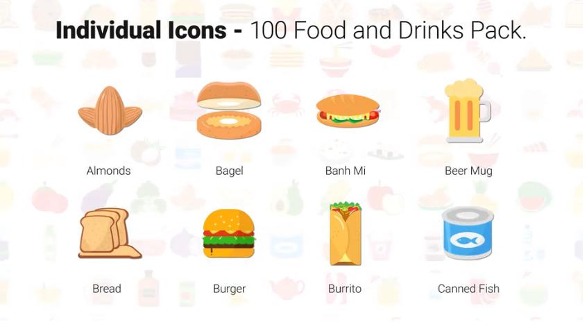 100个食物和饮料图标视频ae素材designshidai_video0080