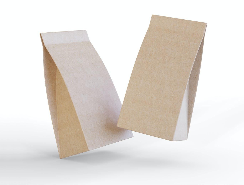 食品纸袋咖啡店外卖包装袋展示设计样机designshidai_yj383