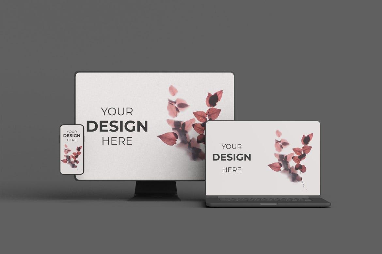 响应式电脑设备显示展示设计产品样机mockup模型designshidai_yj390
