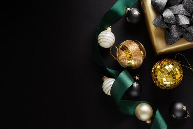 圣诞节装饰元素铃铛礼物背景图案designshidai_beijing81