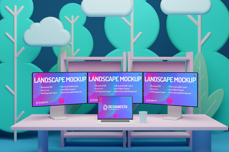 高端电脑显示器模型designshidai_yj415