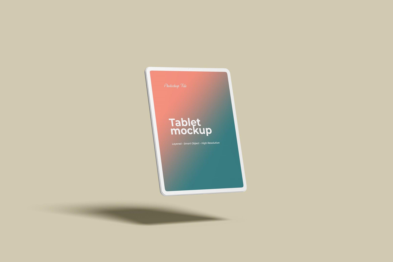 浮动的平板产品样机designshidai_yj423