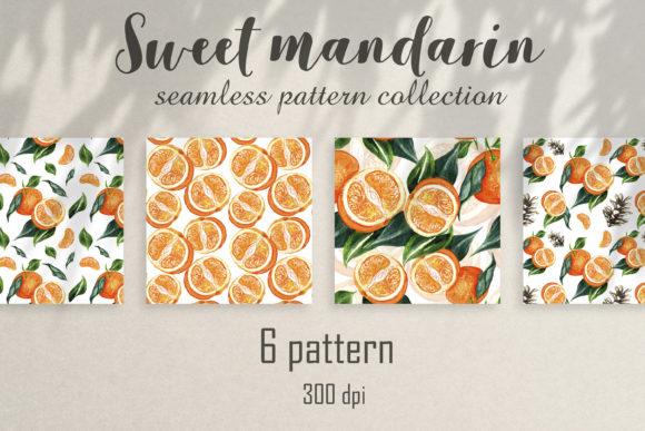 柑桔水果无缝水彩图案背景素材designshidai_beijing88