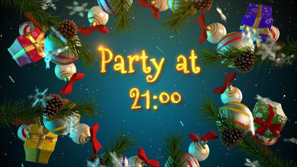 圣诞节庆祝活动party元素问候祝福视频ae模板designshidai_video0001