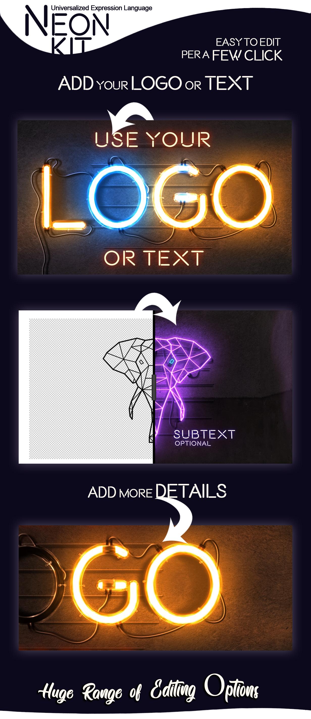 霓虹灯Logo&标题展示AE视频套件designshidai_video0055