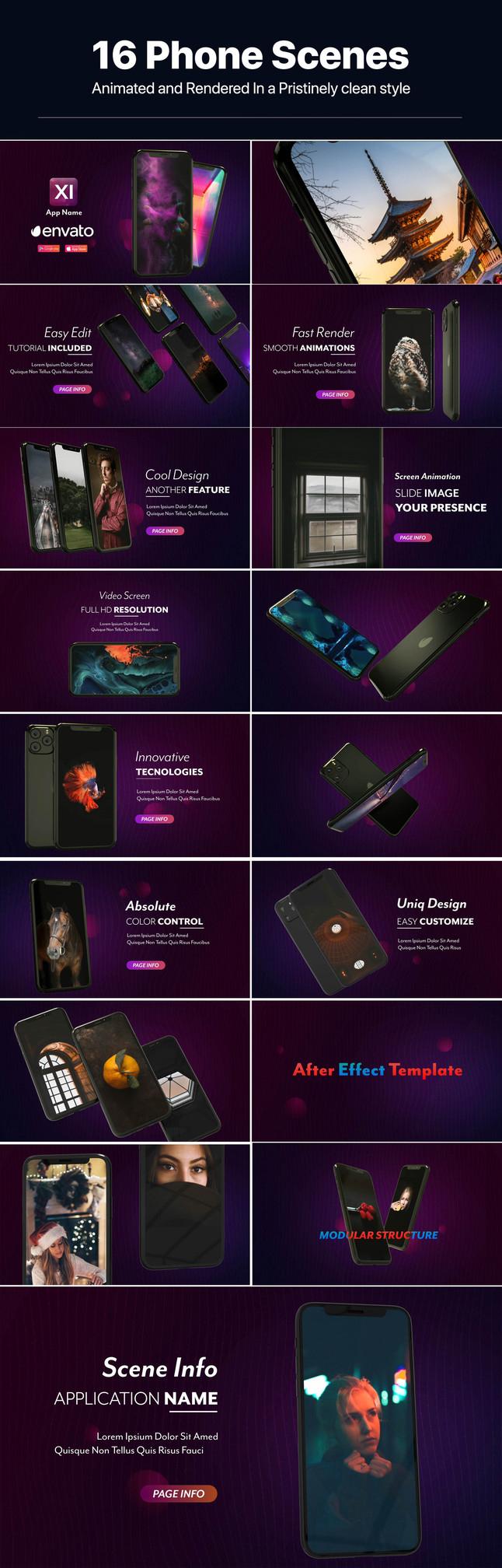 iPhone 11手机App应用促销演示视频AE模板designshidai_video0058