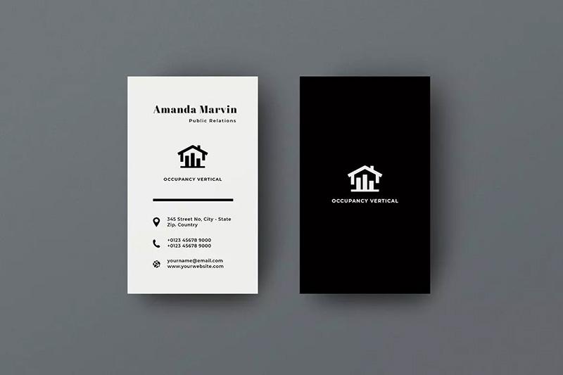 公共关系服务企业名片设计模板designshidai_yj429