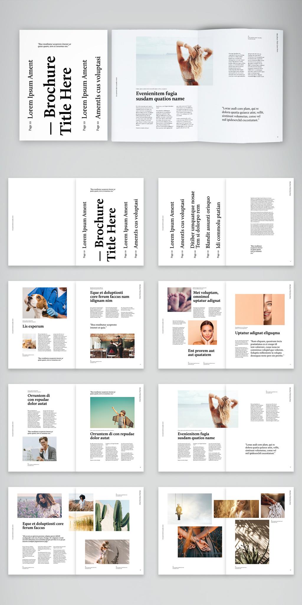 极简主义故事手册杂志布局设计模板designshidai_zazhi017