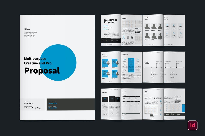 清新简约时尚多用途的宣传册画册杂志房地产楼书设计模板designshidai_zazhi019