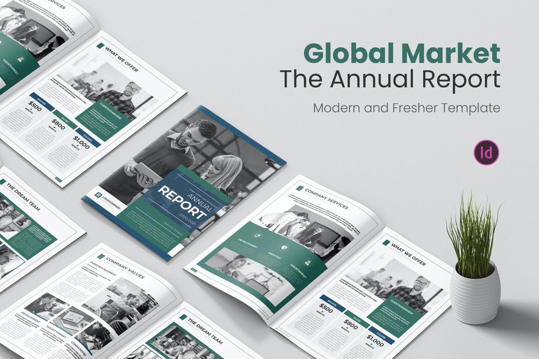 时尚高端专业的全球市场年度报告宣传册画册品牌手册房地产楼书设计模板designshidai_zazhi025