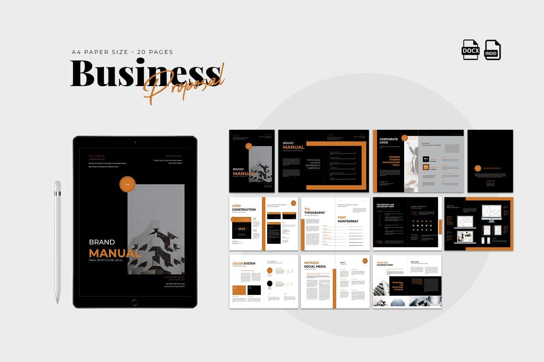 高品质的多用途提案画册宣传册杂志房地产楼书设计模板designshidai_zazhi036