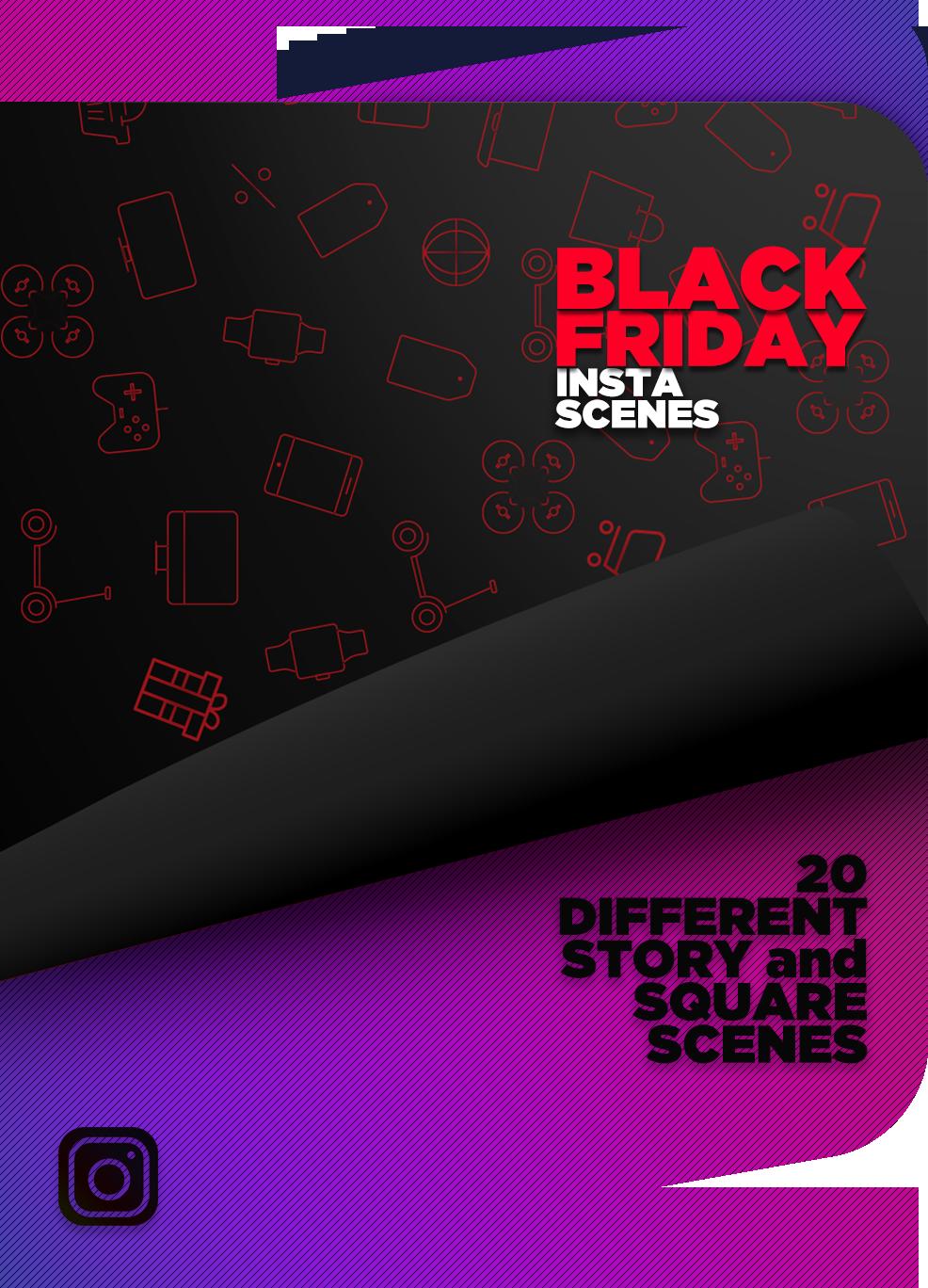 黑色星期五Instagram场景产品促销视频ae模板designshidai_video0064