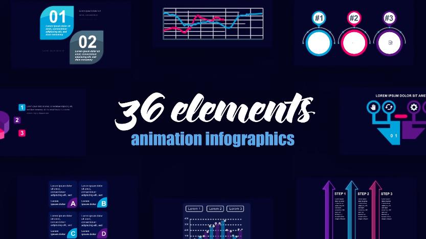 技术数据统计图表元素视频AE模板 designshidai_video0069