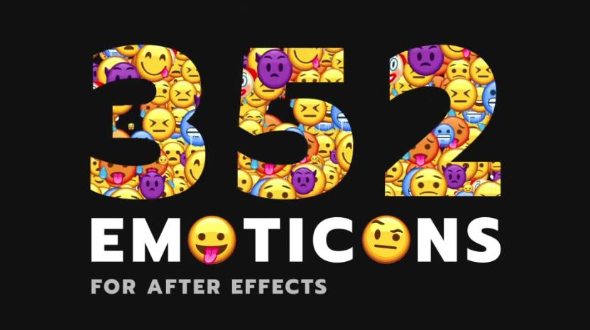 卡通动画emoji表情符号视频ae素材designshidai_video0071