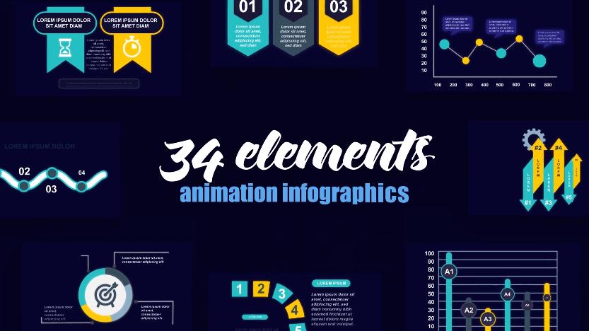 初创企业信息图表数据统计AE视频模板designshidai_video0075
