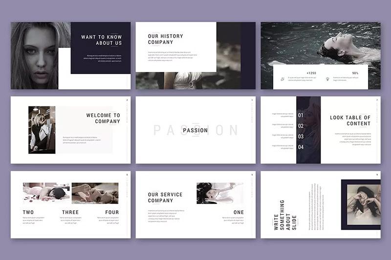 摄影工作室作品展示PPT幻灯片模板designshidai_ppt055