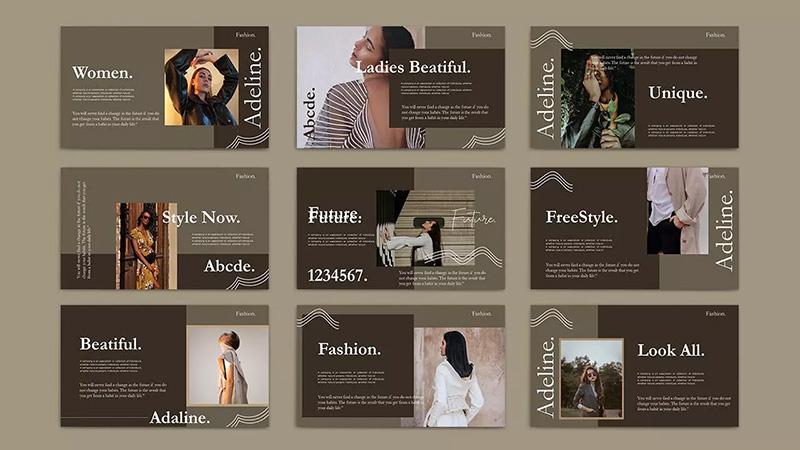 暗色系背景企业年度总结PPT模板designshidai_ppt068