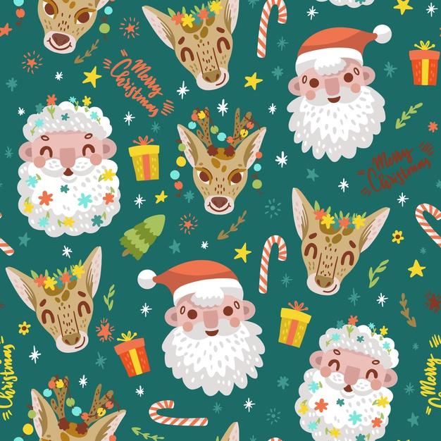 有趣的圣诞图案背景designshidai_beijing50