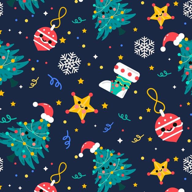 有趣的圣诞节图案背景designshidai_beijing54