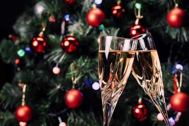 香槟敬酒圣诞背景designshidai_beijing61