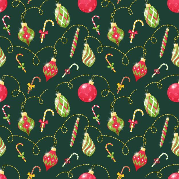 圣诞节装饰玩具图案背景designshidai_beijing67