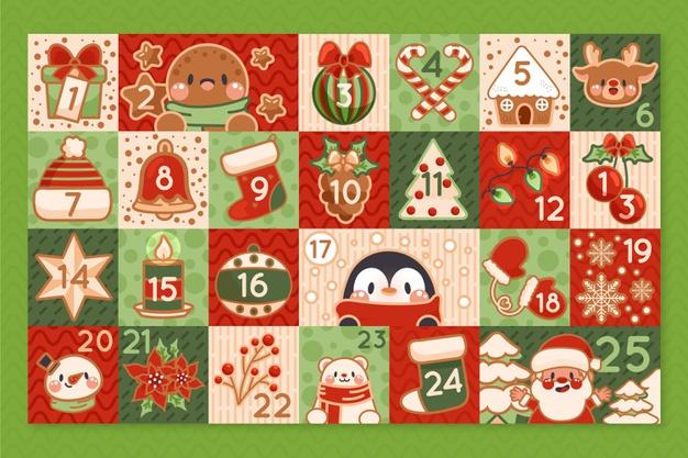 手绘将临节日历圣诞节素材designshidai_beijing69