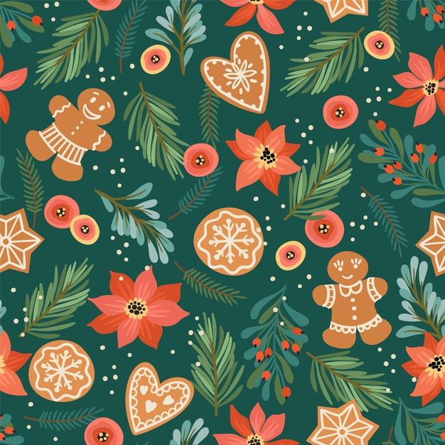 圣诞和新年快乐无缝图案素材designshidai_beijing71