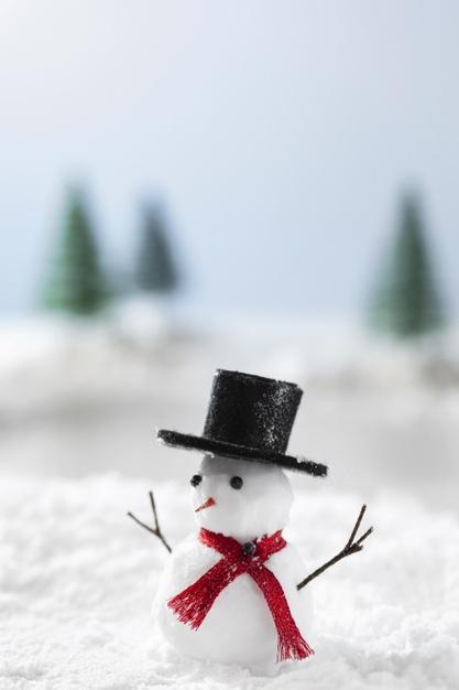 冬天雪人圣诞节冬季概念的特写背景designshidai_beijing74