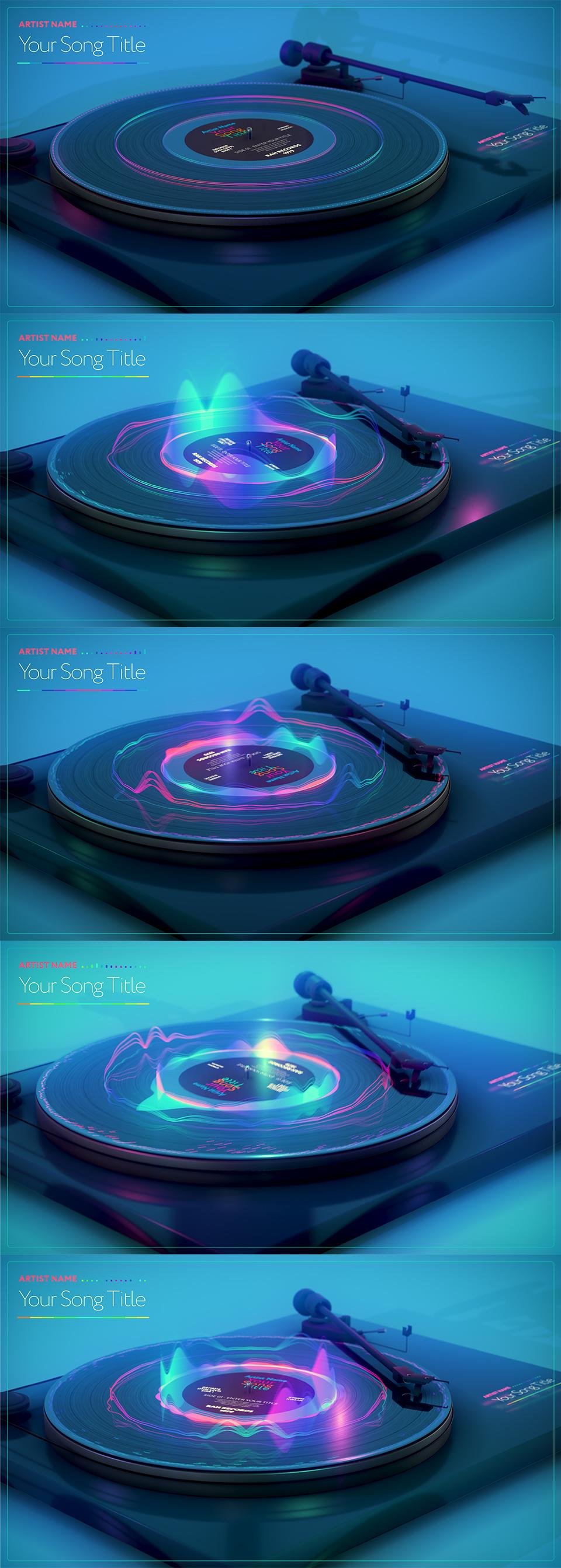 音乐转盘可视化器视频ae素材designshidai_video0041