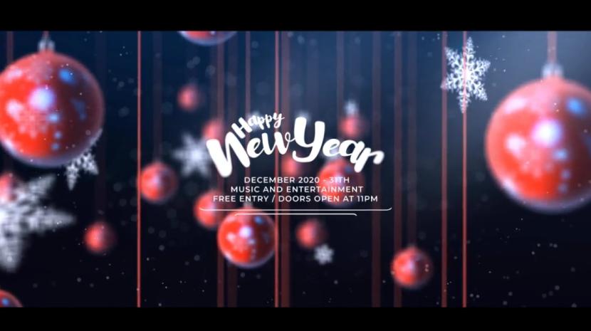 红色圣诞球&雪花元素圣诞晚会派对邀请视频ae素材designshidai_video0034