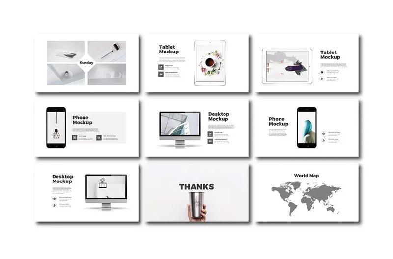 时尚生活方式演讲PPT模板designshidai_ppt071
