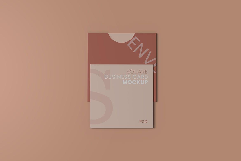 高品质方形信封品牌VI设计样机designshidai_yj382