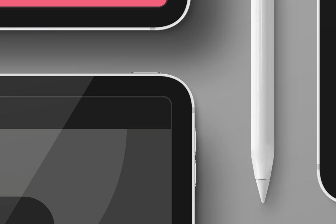 高端iPad平板电脑展示样机mockup模板designshidai_yj391